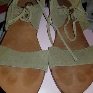 FREE PEOPLE Gladiator Suede Sandals Size 37